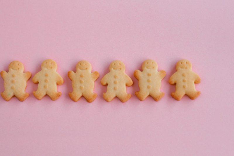 並ぶクッキーマン
