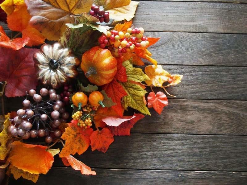 秋のリース(花輪)