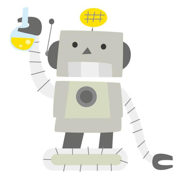 実験中のロボット