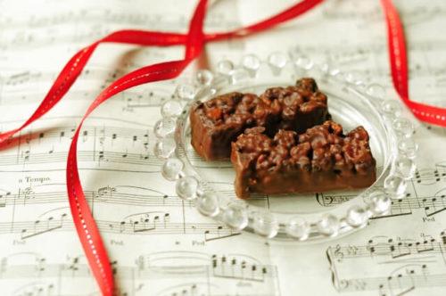チョコレートとリボン