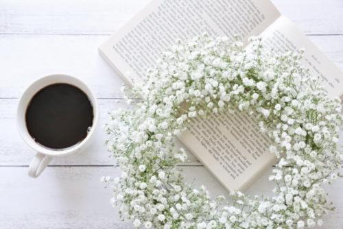 カスミソウとコーヒー