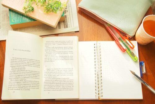勉強中の机