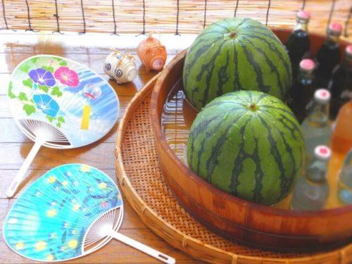 西瓜と団扇