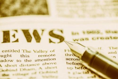 新聞とペン