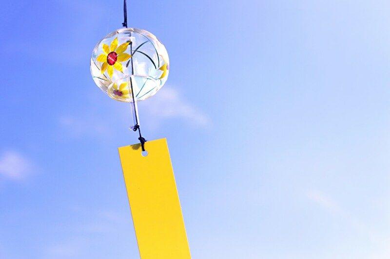 黄色い風鈴